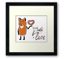 With all fox love Framed Print