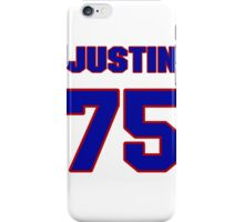 National football player Justin Hartwig jersey 75 iPhone Case/Skin