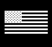 American Flag, NEGATIVE on black, Stars & Stripes, Pure & Simple, USA by TOM HILL - Designer
