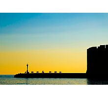 A Sunset in Dubrovnik Photographic Print