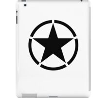 Army Star & Circle, Jeep, WWII, America, American, USA, in Black iPad Case/Skin