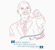 Obama Line Art by Kamilah T. Powell