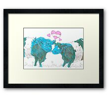 Belted Galloway Cows Framed Print