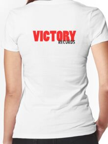 Victory Records Women's Fitted V-Neck T-Shirt