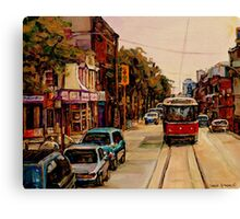 PAINTINGS OF TORONTO TORONTO ART TORONTO CITY SCENE PAINTINGS TORONTO TRAMS AND RESTAURANT PAINTINGS Canvas Print