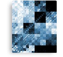 Blue Checkered Hot Mess Canvas Print