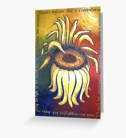 Vincent Sunflower Chair Greeting Card
