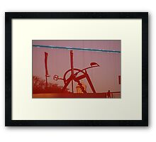 Reflections in Red #2 Framed Print