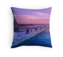 {Newcastle Ocean Baths} Throw Pillow