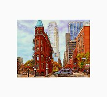TORONTO PAINTINGS TORONTO SKYLINE TORONTO ART TORONTO FLATIRON BUILDING PAINTING DOWNTOWN TORONTO SCENES Unisex T-Shirt