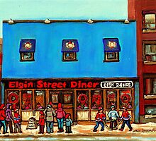 OTTAWA PAINTINGS OTTAWA ART OTTAWA DELIS ELGIN STREET DELI IN OTTAWA by Carole  Spandau