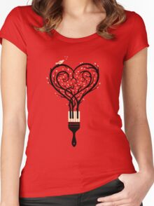 Paint your love song Women's Fitted Scoop T-Shirt