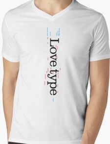 Love Type (b) Mens V-Neck T-Shirt