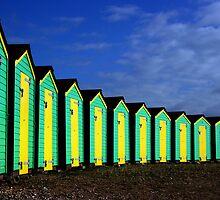 Beach huts by austen haines
