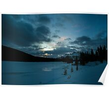 Winter Sunrise at Two Jack Lake Poster