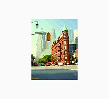 TORONTO SKYLINE PAINTINGS TORONTO ART TORONTO FLATIRON BUILDING TORONTO DOWNTOWN SCENES Unisex T-Shirt