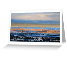 Orange Coloured Waves Still Bay South Africa Greeting Card