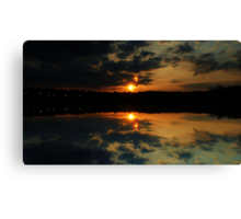 The Sparkle Before Twilight Canvas Print