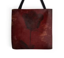 Gold Accent On Red Rose Design Tote Bag