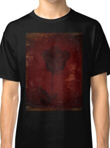Gold Accent On Red Rose Design Classic T-Shirt