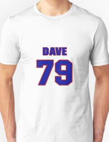 National football player Dave Widell jersey 79 T-Shirt