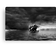 Towards the End BW Canvas Print