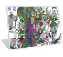 too many letters Laptop Skin