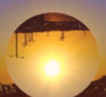Upside Down Sun Sticker