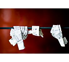 Unwanted Fortunes Photographic Print