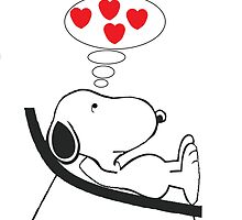 snoopy in love by cyrillus