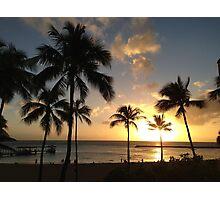 Sunset in Waikiki Photographic Print