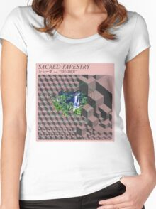 Sacred Tapestry [vaporwave] Women's Fitted Scoop T-Shirt