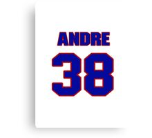 National football player Andre Hal jersey 38 Canvas Print