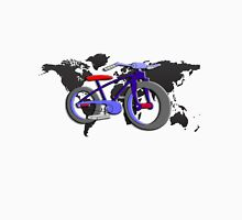 Bycicle all over the world. Unisex T-Shirt