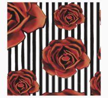 Pin striped rose Kids Tee