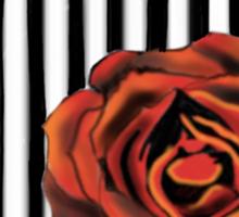 Pin striped rose Sticker