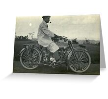 Smoke and Motorcycle Greeting Card