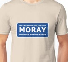 You can breathe easy, you're in Moray - Scotland's Northern Riviera Unisex T-Shirt