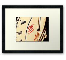 1 Quarter Framed Print