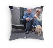 Let's Walk the Dog Throw Pillow