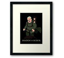Shadow of Hodor Framed Print