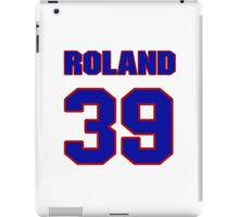 National football player Roland Solomon jersey 39 iPad Case/Skin