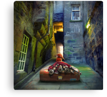 """Bagpiper from Trunk's Close"" Canvas Print"