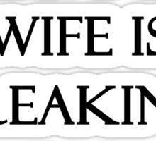 My Husband's Wife is Freaking Awesome. True Story! Sticker
