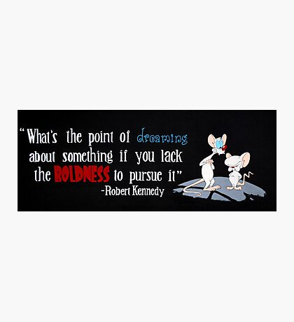 pinky and the brain- Kennedy quote Photographic Print