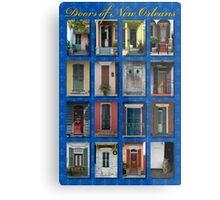 Doors of New Orleans Metal Print