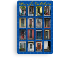 Doors of New Orleans Canvas Print