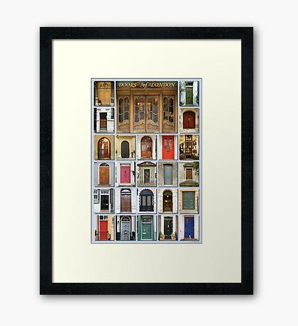 Doors of London Framed Print