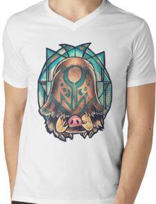 Piloswine  Mens V-Neck T-Shirt