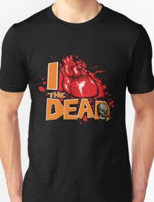 "Show your zombie pride with this ""I Love the DEAD"" design  T-Shirt"